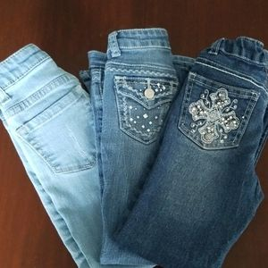 3 pair of Arizona Jeans size 5 girls